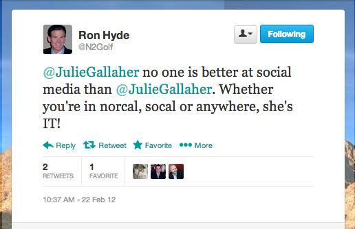 Ron Hyde Recommends Julie Gallaher and Get on the Map
