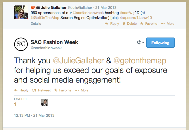 Sac Fashion Week Social Media Campaign
