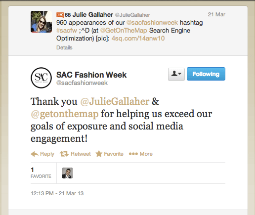 sac fashion week testimonial get on the map